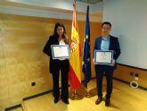 Dos estudiantes de Turismo de la UCAM, premios nacionales de la Asociación Española de Normalización