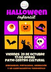 El Ayuntamiento de Puerto Lumbreras organiza el próximo viernes actividades para los niños con motivo de la popular fiesta de Halloween