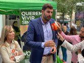 VOX reivindica más seguridad con una treintena de mesas informativas en Murcia