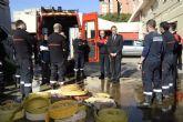 José Ballesta a policías y bomberos: 'Vuestra labor durante las lluvias quedará en la memoria de todos los murcianos'
