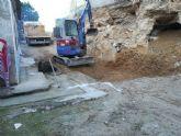 Infraestructuras está realizando obras para evitar un desprendimiento de tierras en Torreagüera