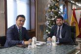 El presidente López Miras y el alcalde de San Javier se unen 'ante el claro boicot del Gobierno central a la Región al negarnos el trasvase'