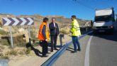 Fomento mejora la seguridad vial de la carretera que comunica Ojós con Archena
