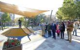 El renovado jardín Pintor Pedro Flores estrena nuevas áreas deportivas y de juegos infantiles en el corazón del barrio del Carmen