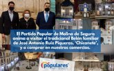 El Partido Popular de Molina de Segura anima a visitar el tradicional Belén familiar de José Antonio Ruiz Piqueras, ´Chicanete´, y a comprar en nuestros comercios