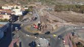 La Comunidad ha ejecutado 620 metros cuadrados de pantalla de hormigón para el paso inferior del barrio lorquino de San Antonio