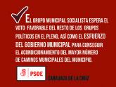 El Grupo Municipal Socialista pide más presupuesto y mejoras en los criterios para elegir los caminos municipales objeto de acondicionamiento