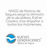 NNGG de Molina de Segura exige la dimisión de la alcaldesa 'tras engañar a todos los molinense'