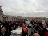 La Cofradía de San Ginés de la Jara acudió el pasado miercoles a la Audiencia General de Su Santidad el Papa Francisco
