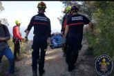 Evacúan a un senderista de 70 años con fractura de tobillo en el Cabezo de la Fuente