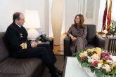 El nuevo Almirante Jefe del Arsenal Militar y la alcaldesa repasan proyectos de futuro para la ciudad