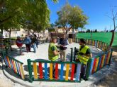 Los vecinos de La Ñora disfrutarán en primavera del renovado Jardín Calle Río Ebro