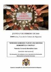 El próximo Foro Abierto de Alguazas tratará el tema de los derechos humanos