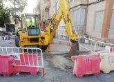 Comienzan las obras para la instalación de una tubería de saneamiento en la calle Bolnuevo, cuyo proyecto se incluye en el POS 2020/21