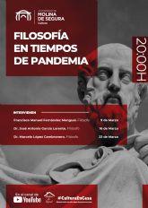 La Concejalía de Cultura de Molina de Segura programa el Ciclo Filosofía en tiempos de pandemia para el mes de marzo