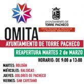 Reapertura de las OMITAS de Roldán, Balsicas, Dolores de Pacheco y San Cayetano