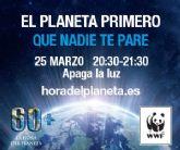 San Pedro del Pinatar se une otro año más a la Hora del Planeta