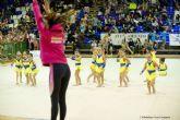 600 gimnastas de entre 3 y 17 años dan cuenta de la buena salud de la Gimnasia Ritmica en Cartagena