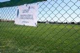 El Lorca Fútbol Club acomete y financia los trabajos de resiembra del campo de césped natural del Polideportivo Municipal
