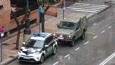 Las Fuerzas Armadas llegan a Molina de Segura para colaborar en la vigilancia y control de circulación de vehículos y personas y en las labores de desinfección de puntos sensibles para prevenir la expansión del COVID-19