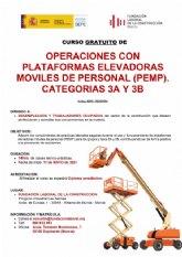 Curso gratuito de operaciones con plataformas elevadores m�viles de personal (MEMP)