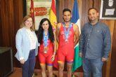 Los pinatarenses Sonia Gómez Heredia y Bienvenido Ballester suben al podium del Duatlón nacional