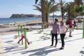 El PP visita a las nuevas instalaciones de gimnasia que alberga el Paseo Mar�timo de Puerto de Mazarr�n