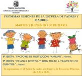 Continúan las sesiones formación para padres y madres.