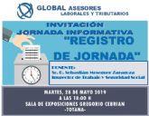 La Concejalía de Hacienda colabora en la jornada informativa titulada 'Registro de jornada'