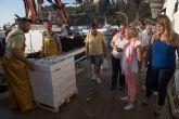 La lonja de Puerto de Mazarrón registra datos de capturas históricos