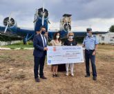 El AMPA del Colegio 'Eusebio Martínez', la Asociación Murciana de Fibrosis Quística y  Cáritas Castrense reciben 21.900 euros recaudados en la Carrera Base Aérea de Alcantarilla