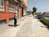 Finalizan las obras de instalación de un tramo de red de alcantarillado entre la avenida Juan Carlos I y la calle Ramón y Cajal