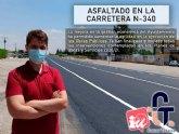 Asfaltado en la N340 y actuaciones del Plan de Obras y Servicios