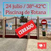 24 de julio, 38°- 42°C y las piscinas públicas de Totana permanecen cerradas