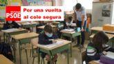 El PSOE insta al Alcalde y al Concejal de Educación a convocar de manera urgente al Consejo Escolar Municipal para reivindicar una vuelta segura a las aulas