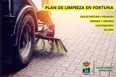 El Ayuntamiento ha iniciado un Plan de Limpieza para mejorar la imagen y la salubridad de los espacios públicos de Fortuna