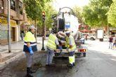 El Ayuntamiento intensifica la limpieza de imbornales de la red de drenaje para minimizar el impacto de ´La gota fría´