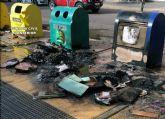 La Guardia Civil detiene al presunto autor del incendio intencionado de 16 contenedores de basura en Cieza