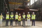 La Ministra de Defensa visita el submarino S-80 en Navantia Cartagena