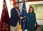 López Miras se reúne con la alcaldesa de  Cartagena