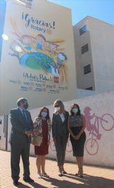 La Avda. Virgen del Carmen luce un nuevo mural solidario con motivo del Día Mundial de la lucha contra la Polio
