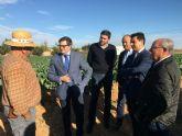 El consejero de Agricultura, Francisco Jódar  visita El Mirador para conocer 'in situ' el adelanto de algunas medidas recogidas en el decreto  ley sobre sostenibilidad ambiental en el entorno del Mar Menor