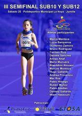 Los atletas sub10 y sub12 del Club Atletismo Alhama presentes en la tercera semifinal de su categoría