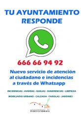 El canal de Whatsapp del Ayuntamiento de Puerto Lumbreras gestiona más de 200 incidencias en menos de un año
