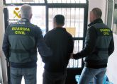 La Guardia Civil detiene al presunto autor de un robo con violencia e intimidación en Mazarrón