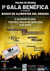 Molina de Segura acoge la primera Gala Benéfica a favor del Banco de Alimentos del Segura el jueves 12 de marzo