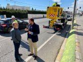 El Ayuntamiento mejora la seguridad vial de la Avenida Lorca de Sangonera La Seca con la instalación de nuevas luminarias LED