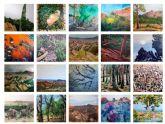 Estudiantes de la universidad de Murcia muestran una visión personal de El Valle y Carrascoy a través de la pintura