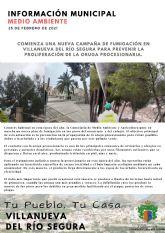 Comienza una nueva campaña de fumigación en Villanueva del Río Segura para prevenir la proliferación de la oruga procesionaria