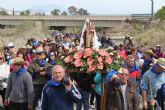 Numerosos fieles acompañan a la Virgen del Carmen en la romería de Puerto Lumbreras